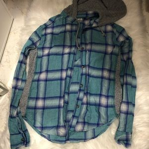Hollister Relaxed Fit Flannel with Hood